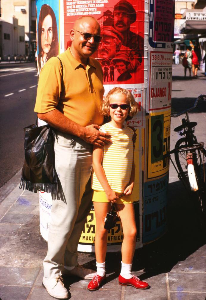 Дани с отцом в Израиле. 1968 год