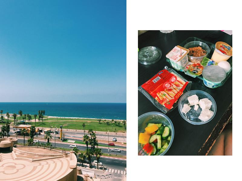 Вид из отеля и завтрак в номере. Фото из личного архива