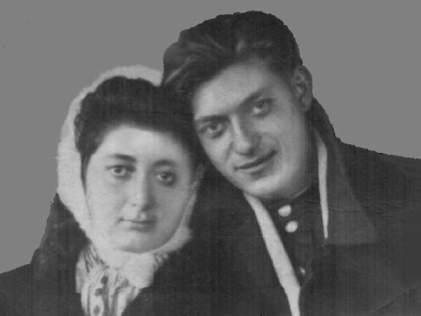 Галина (Голда) и Сергей Беркнеры. Ноябрь 1944 г