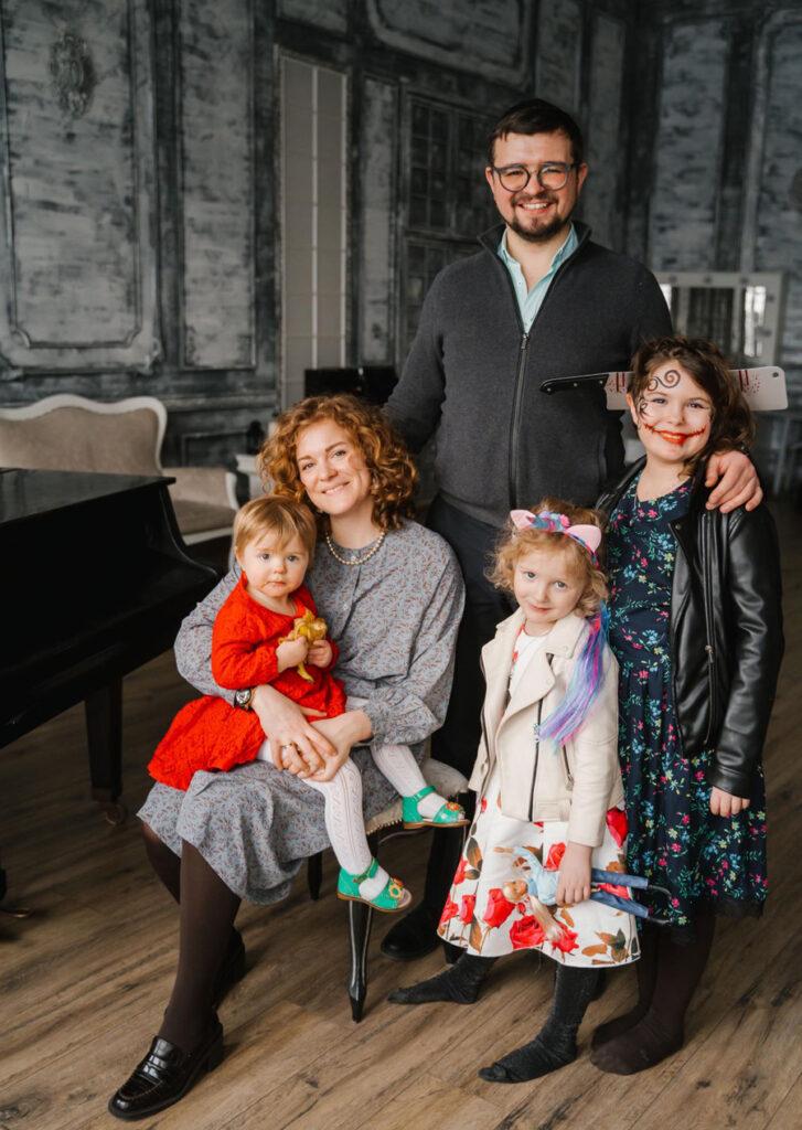 Давид с женой и детьми