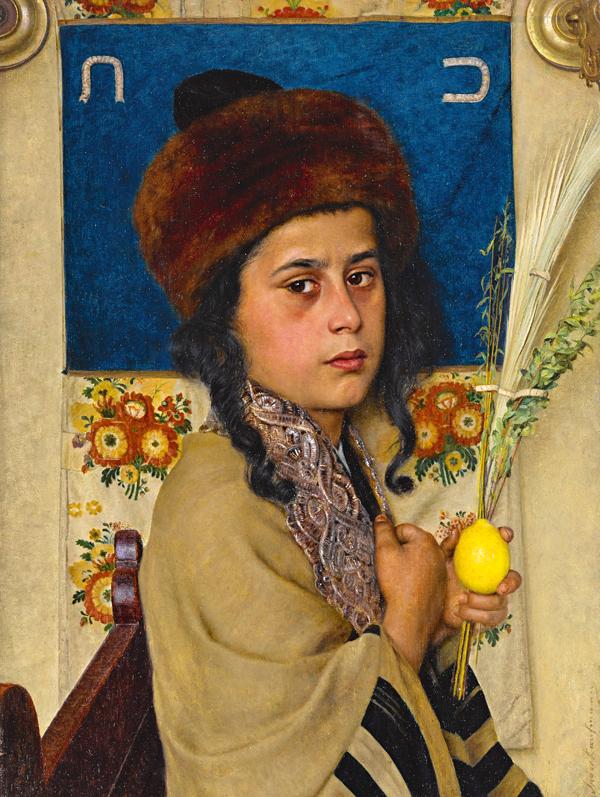 Исидор Кауфман. «Ребенок с лулавом», около 1900 года