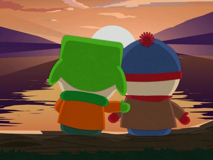 Кайл и Стэн. Кадр из мультсериала «Южный Парк»